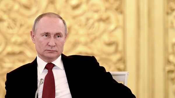 Президент РФ Владимир Путин на совместном расширенном заседании президиума Государственного совета и Совета при президенте по науке и образованию