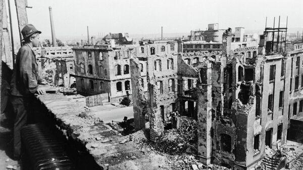 Развалины Дрездена