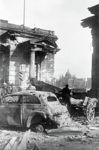 Великая Отечественная война 1941-1945 гг. Буда - западная часть венгерской столицы Будапешта, после штурма