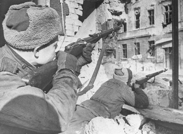 Великая Отечественная война 1941—1945 гг. Освобождение советскими войсками Венгрии. Будапештская операция, 29 октября 1944 г. — 13 февраля 1945 г. Бои на улицах Будапешта