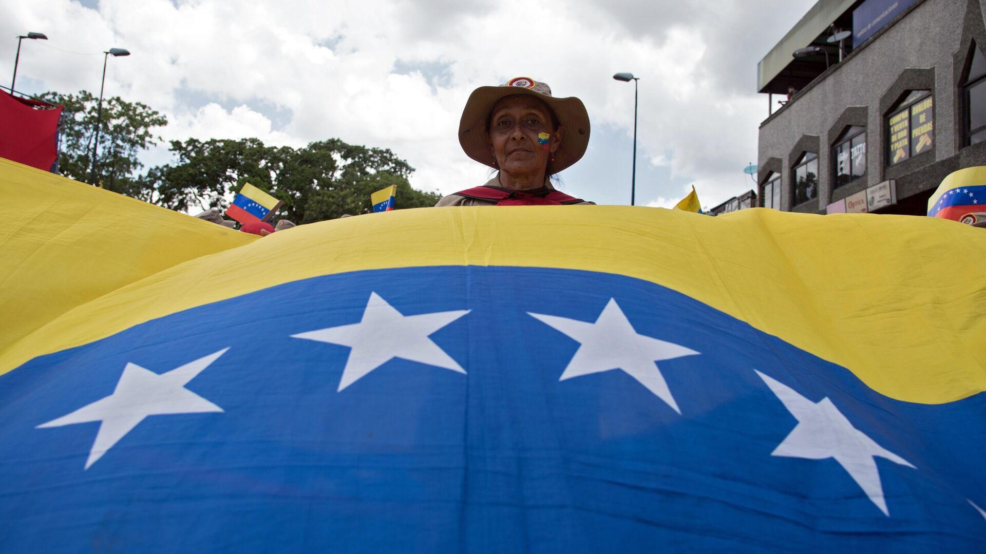 Протесты против санкционной политики США в Венесуэле - РИА Новости, 1920, 04.09.2020