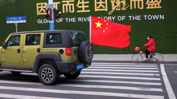 Улица города Ухань в китайской провинции Хубэй