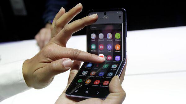 Презентация складного смартфона Samsung Galaxy Z Flip в Сан-Франциско