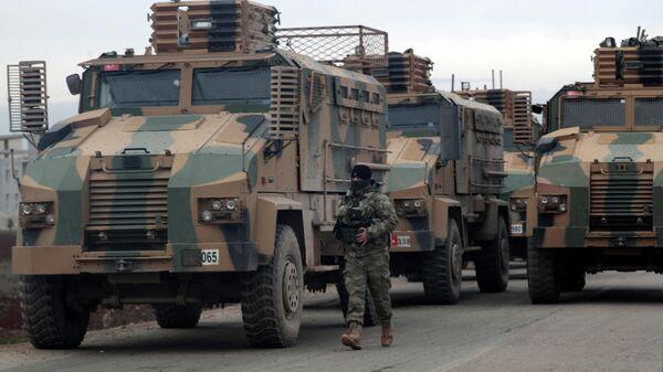 Турецкий военный в провинции Идлиб