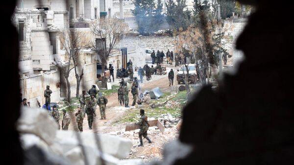 Сирийские военные в провинции Алеппо