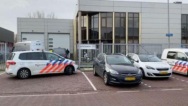 Полиция на месте взрыва в Амстердаме