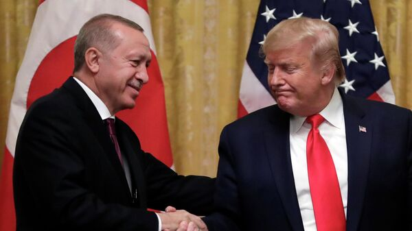 Президент США Дональд Трамп и президент Турции Реджеп Тайип Эрдоган
