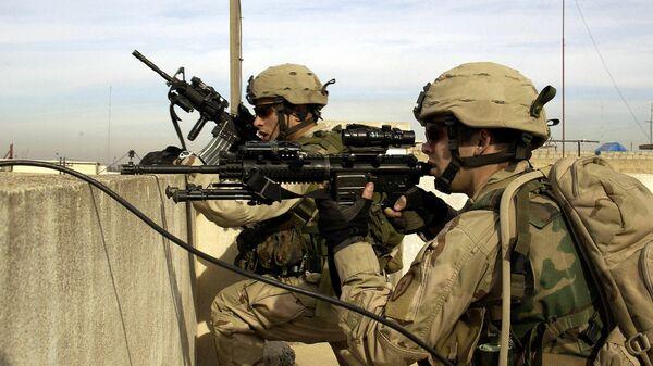 Американские военнослужащие в иракском городе Мосул