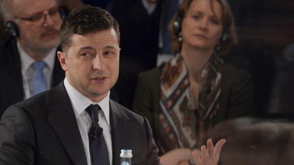 Президент Украины Владимир Зеленский на Мюнхенской конференции по безопасности в Мюнхене.
