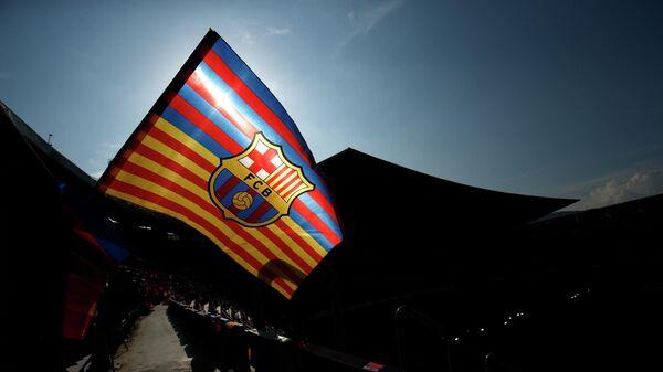Флаг с логотипом Барселоны