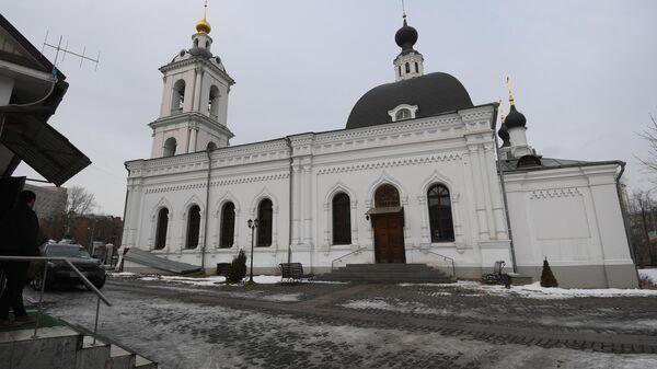 Храма Святителя Николая в Москве, где мужчина во время службы ранил ножом двух человек