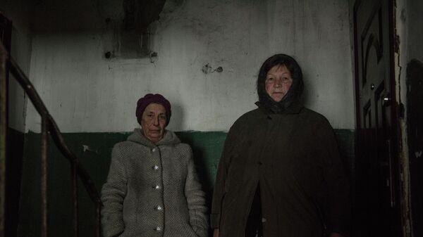 Жители села Молодежное в Луганской области.