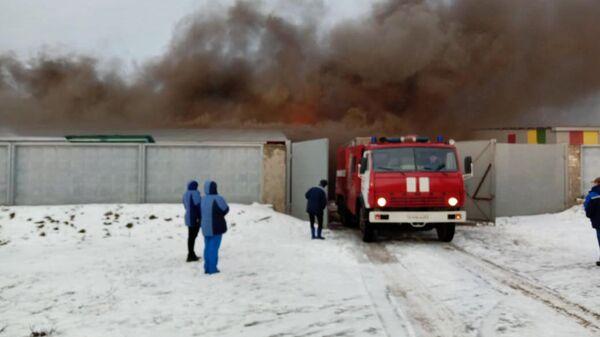 Пожар в производственном здании в поселке Шилово Рязанской области. 17 февраля 2020