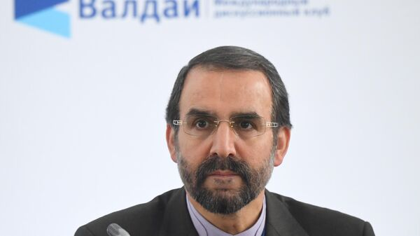 Старший советник министра иностранных дел Ирана Мехди Санаи на Ближневосточной конференции Международного дискуссионного клуба Валдай в Москве