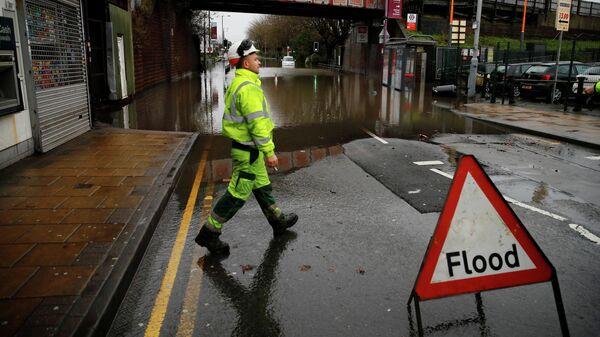 Последствия шторма Деннис в Бирмингеме