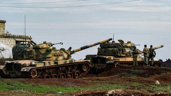 Танки турецкой армии в провинции Идлиб
