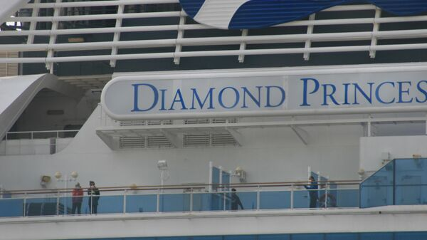 Судно Diamond Princess в порту Йокогама