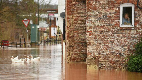 Последствия паводков в Бьюдли, Великобритания