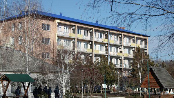 Санаторий в Новых Санжарах на Украине, где находятся эвакуированные из Китая граждане