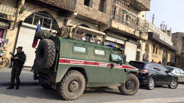Бронеавтомобиль Тигр патрульной службы военной полиции РФ в Алеппо