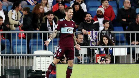 Федор Смолов празднует гол в ворота мадридского Реала.