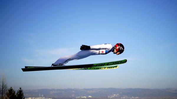 Норвежская прыгунья с трамплина Марен Лундбю