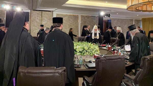 Патриарх Московский Кирилл и представители ряда поместных православных церквей в Аммане