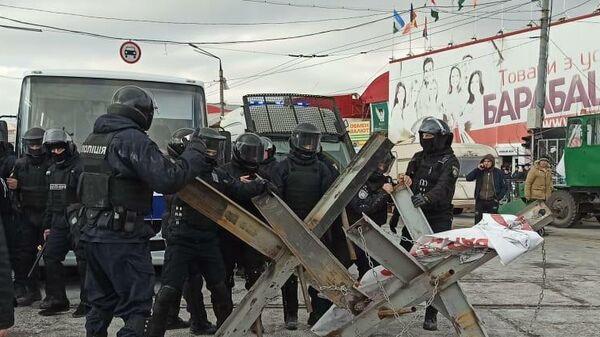 Беспорядки на рынке Барабашово в Харькове