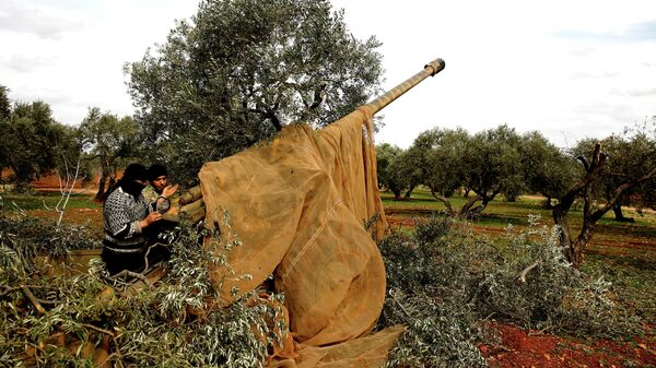Сирийские боевики в провинции Идлиб