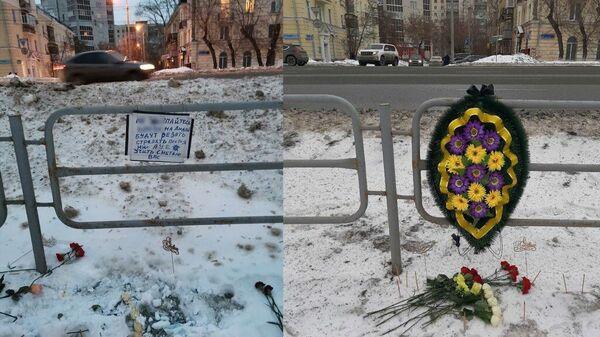 Место гибели 17-летнего молодого человека в Челябинске