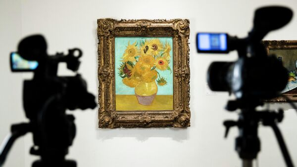 Картина из серии Подсолнухи Винсента Ван Гога