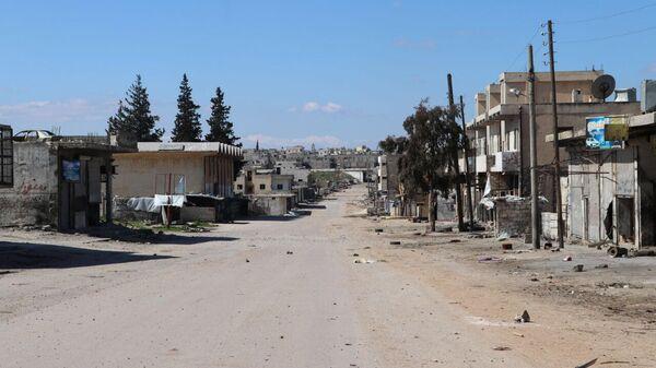 Ситуация в городе Саракеб провинции Идлиб