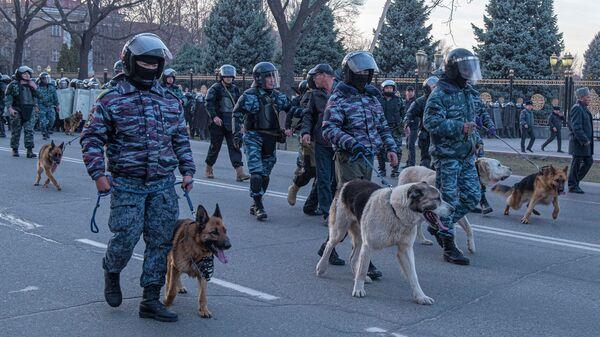 Акции протеста в Бишкеке. 2 марта 2020