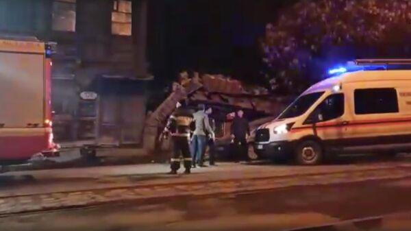 Стоп-кадр видео последствий взрыва газа по улице Арцыбушевская 128 в Самаре
