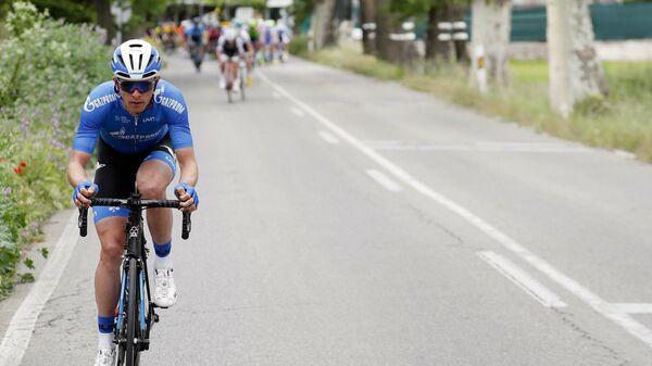 Российский велогонщик Игорь Боев