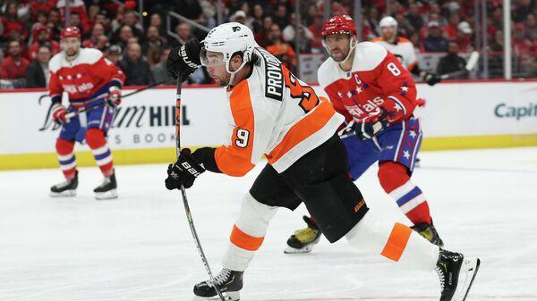 Игрок ХК Филадельфия Флайерз Иван Проворов (9) в матче регулярного чемпионата НХЛ против ХК Вашингтон Кэпиталз