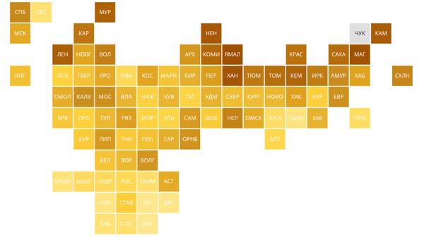 Рейтинг регионов по доступности покупки семьями жилья в ипотеку
