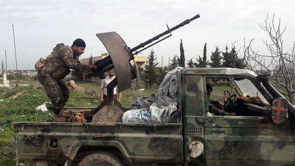 Военнослужащие сирийской правительственной армии в провинции Идлиб
