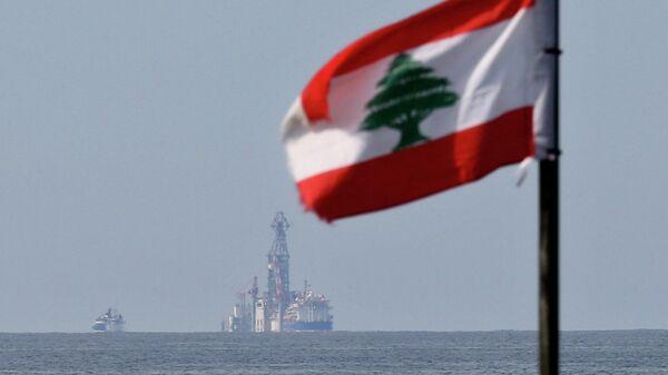Флаг Ливана у бурового судна Tungsten Explorer. 27 февраля 2020