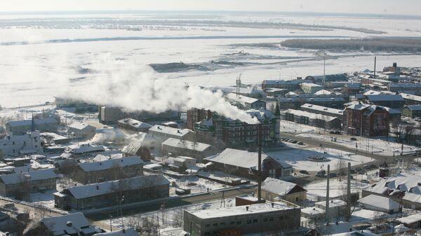 Вид на Ханты-Мансийск сверху