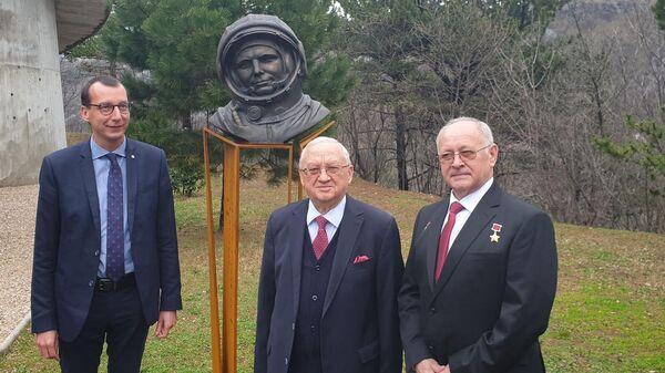 Бюст первому космонавту Юрию Гагарину открыли в городе Риека, Хорватия
