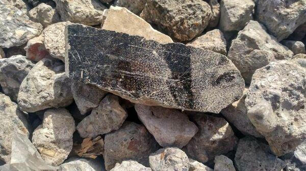 Каменная насыпь на ул. Левоеричной  по  дороге к понтонной переправе через реку Царев