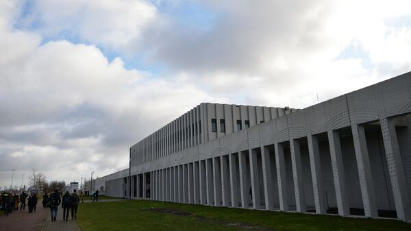 Здание комплекса правосудия Схипхол в нидерландском Бадхоеведорпе, где состоялось суд по делу о крушении самолета Boeing 777 рейса MH17