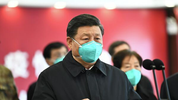 Председатель КНР Си Цзиньпин в Ухане в провинции Хубэй