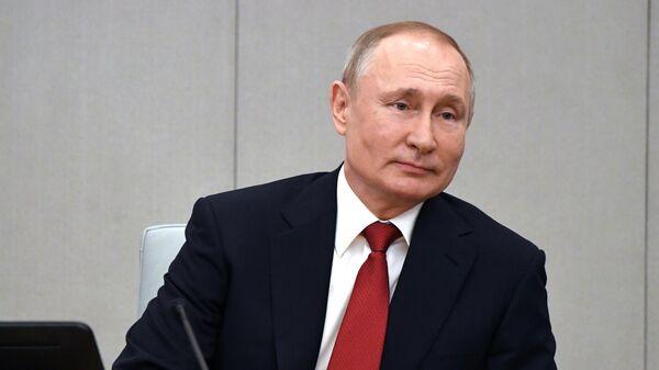 Путин проводит в Кремле встречу с Медведчуком и Володиным