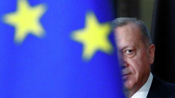 Президент Турции Реджеп Тайип Эрдоган в Брюсселе