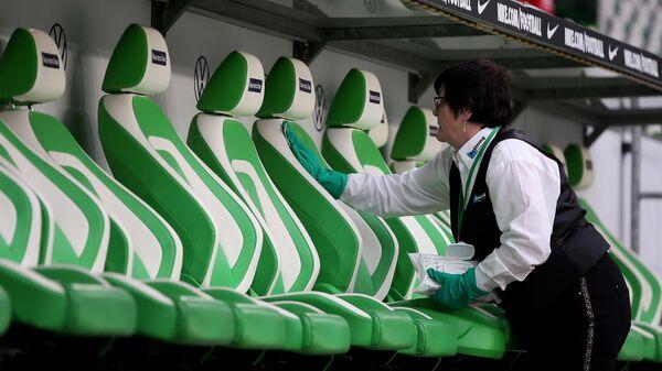 Кресла на стадионе Вольфсбурга