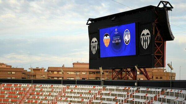 Табло на матче Валенсия - Аталанта