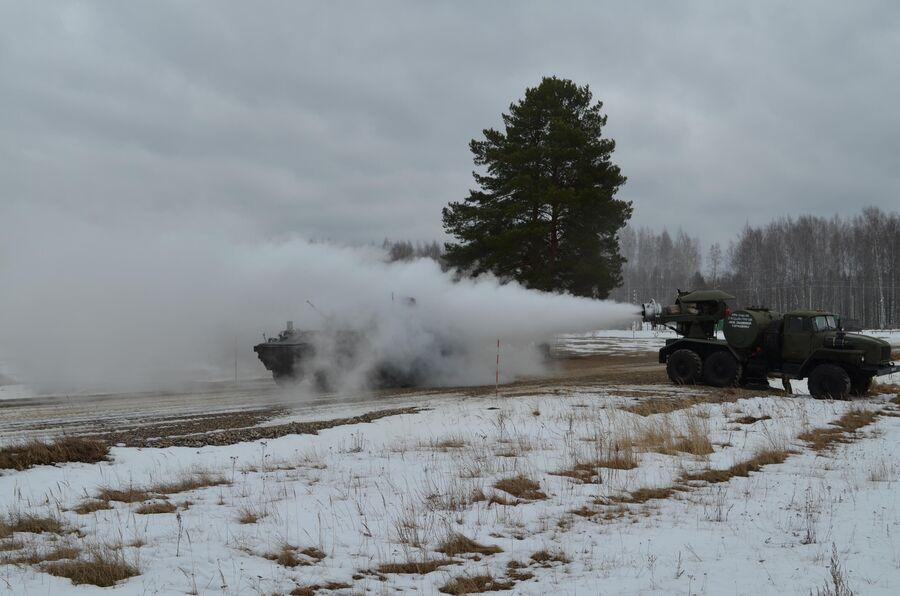 Санитарная обработка военной техники