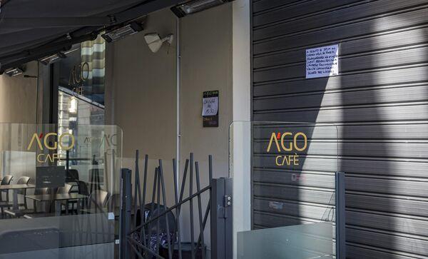 Кафе в Новаре, закрытое из-за угрозы распространения коронавируса